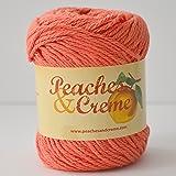 Peaches & Creme (Cream) Cotton Yarn Ocean Coral 2.5 oz. (Coral Orange)