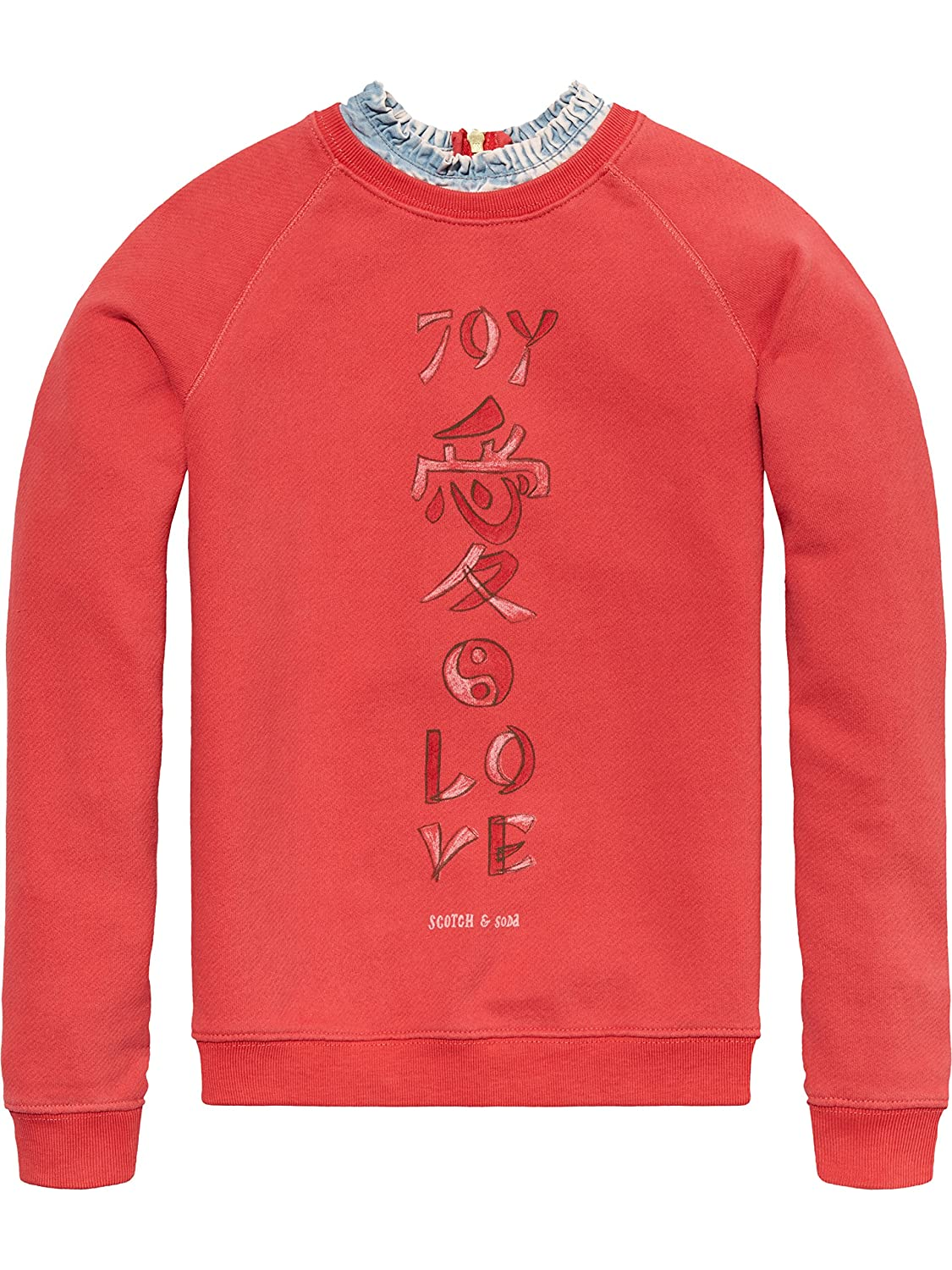 Scotch & Soda Mädchen Sweatshirt Soft Sweat with Denim Collar Scotch & Soda R´Belle 141720