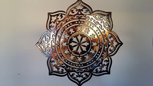 Amazon.com: Mandala Metal Wall Decor, 36 Inches, Yoga Sign: Home ...