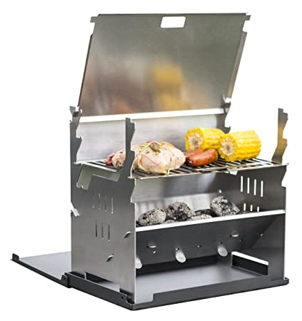 FENNEK GRILL, Tablet Grill, Holzkohle Grill, Outdoor Grill, Mobiler Grill