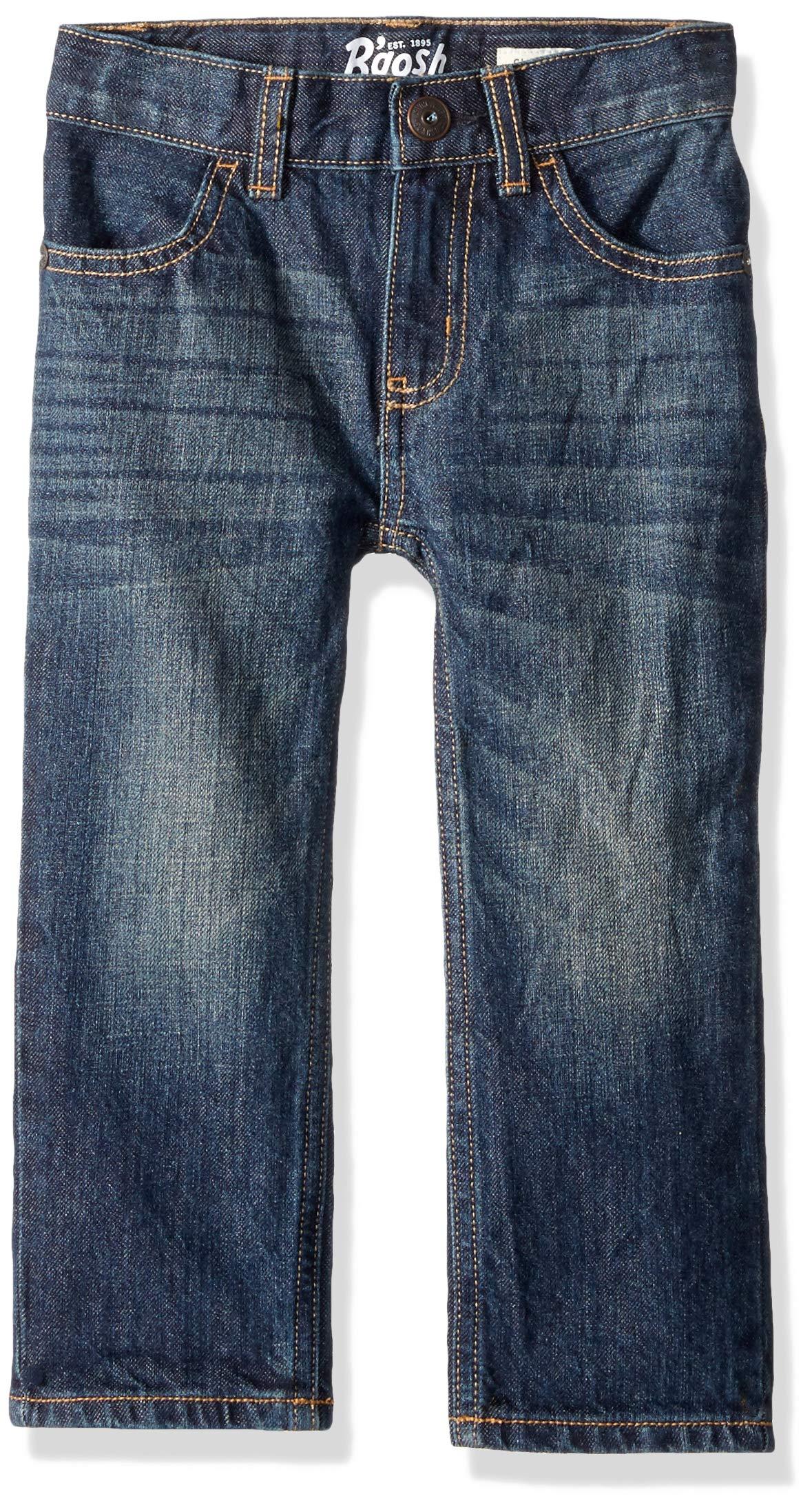 Osh Kosh Boys' Toddler Classic Jeans, Rail Tie True Blue Wash, 4T by OshKosh B'Gosh