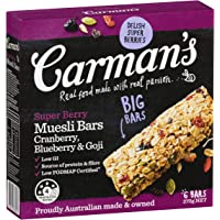 Carman's Muesli Bar Super Berry, 6-Pack (270g)