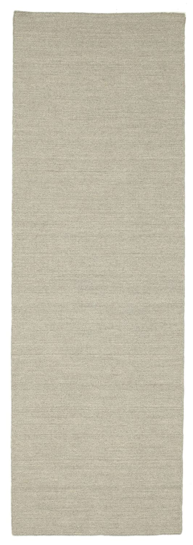 CarpetVista Kelim loom - Hellgrau Beige Teppich 80x250 Moderner, Läufer Teppich