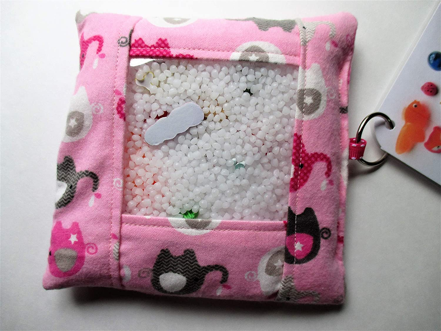 Pink elephant busy bag