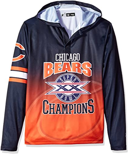 Forever Collectibles NFL Super Bowl X Champions Sudadera con Capucha, Unisex, HDNFPYSBMATSB20CBL, Chicago
