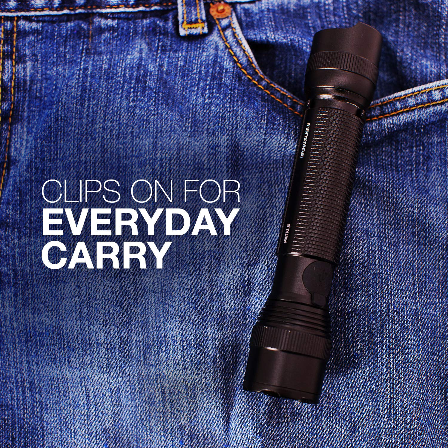 Energizer Tac-r 700 Rechargeable Tactical Flashlight, 700 Lumens 3 Modes by Energizer (Image #5)