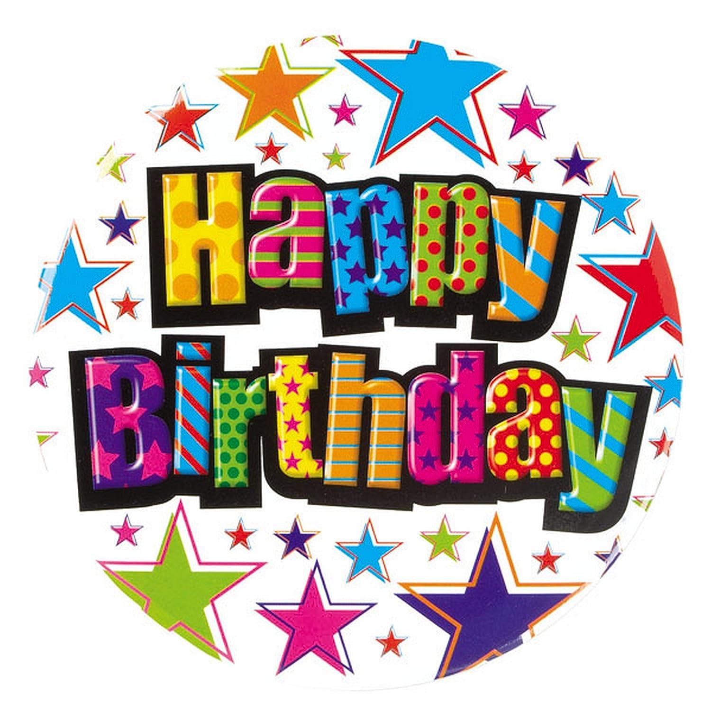 Amazon.com: Simon Elvin – Gigante Feliz cumpleaños Insignia ...