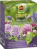 COMPO Stauden Langzeit-Dünger, hochwertiger Spezial-Langzeitdünger, für Stauden aller Art, mehrjährige Blühpflanzen und Rabatten sowie Zwiebel- und Knollengewächse, 2 kg
