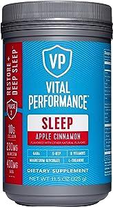 Vital Performance Sleep - Natural Sleep Aid with Collagen, L-Theanine, Magnesium Glycinate and GABA (Apple Cinnamon)