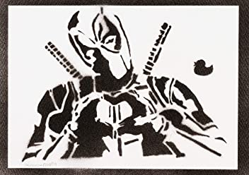 Deadpool Poster Handmade Graffiti Street Art - Artwork