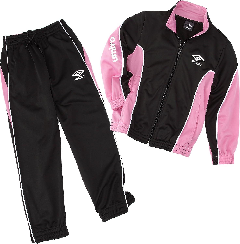Umbro World Knit - Chándal para niña, Color Rosa, Blanco y Negro ...