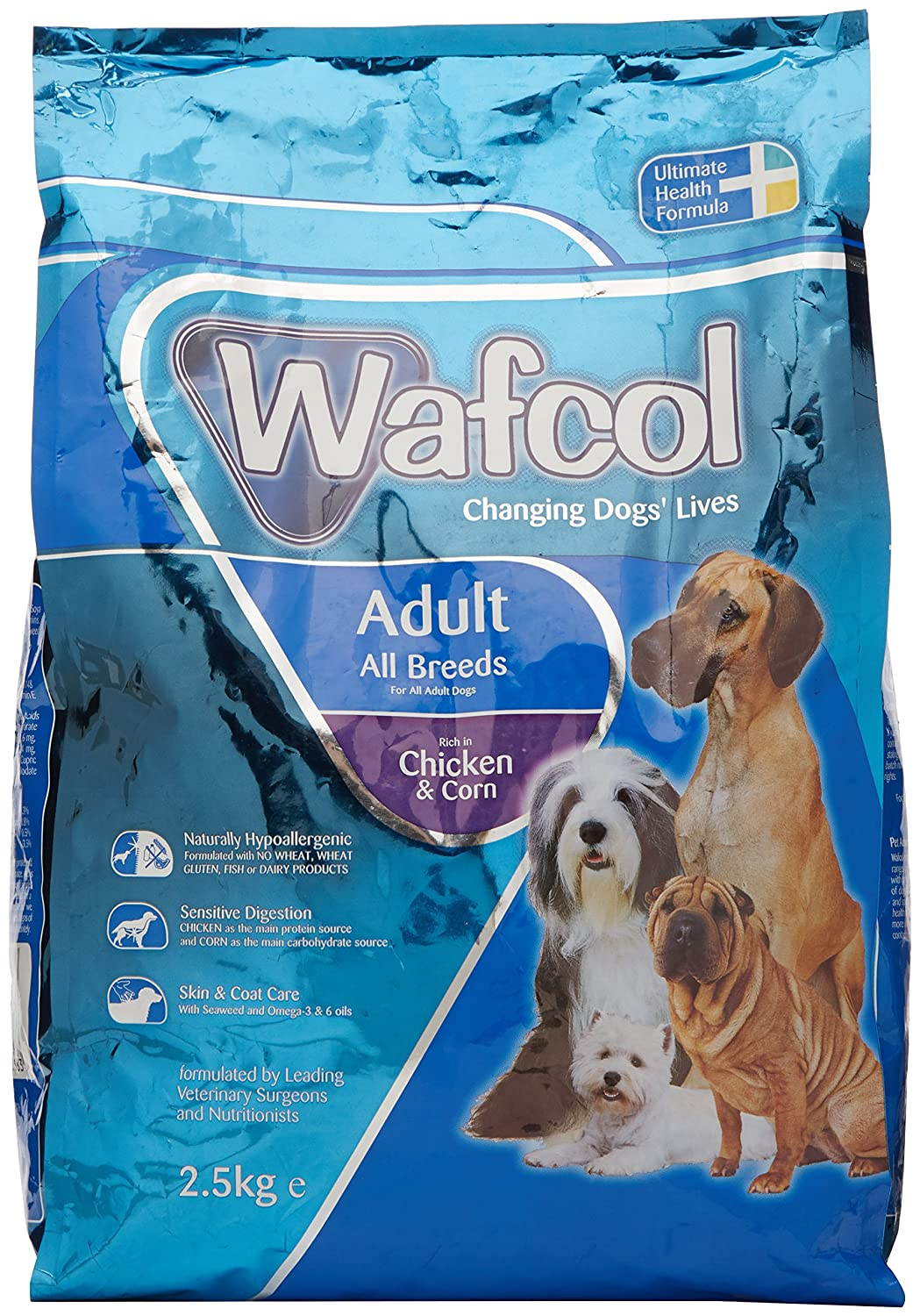 Wafcol Sensitive Dog Food Chicken & Corn for All Adult Breeds, 12 kg ARMBN 03068