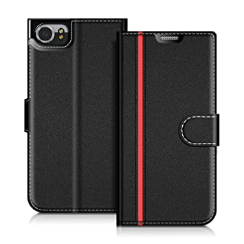 best service 29265 e57ab COODIO Blackberry KEYone Case, Blackberry KEYone Leather Case, Blackberry  KEYone Wallet Case, Stylish Magnetic Closure Flip Folio Case Cover [Wallet  ...