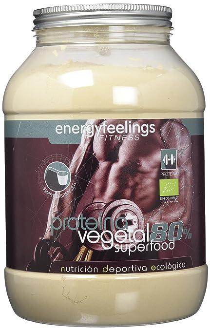 Energy Feelings Proteína Vegetal 80% musculación sabor neutro - 1,5 Kg