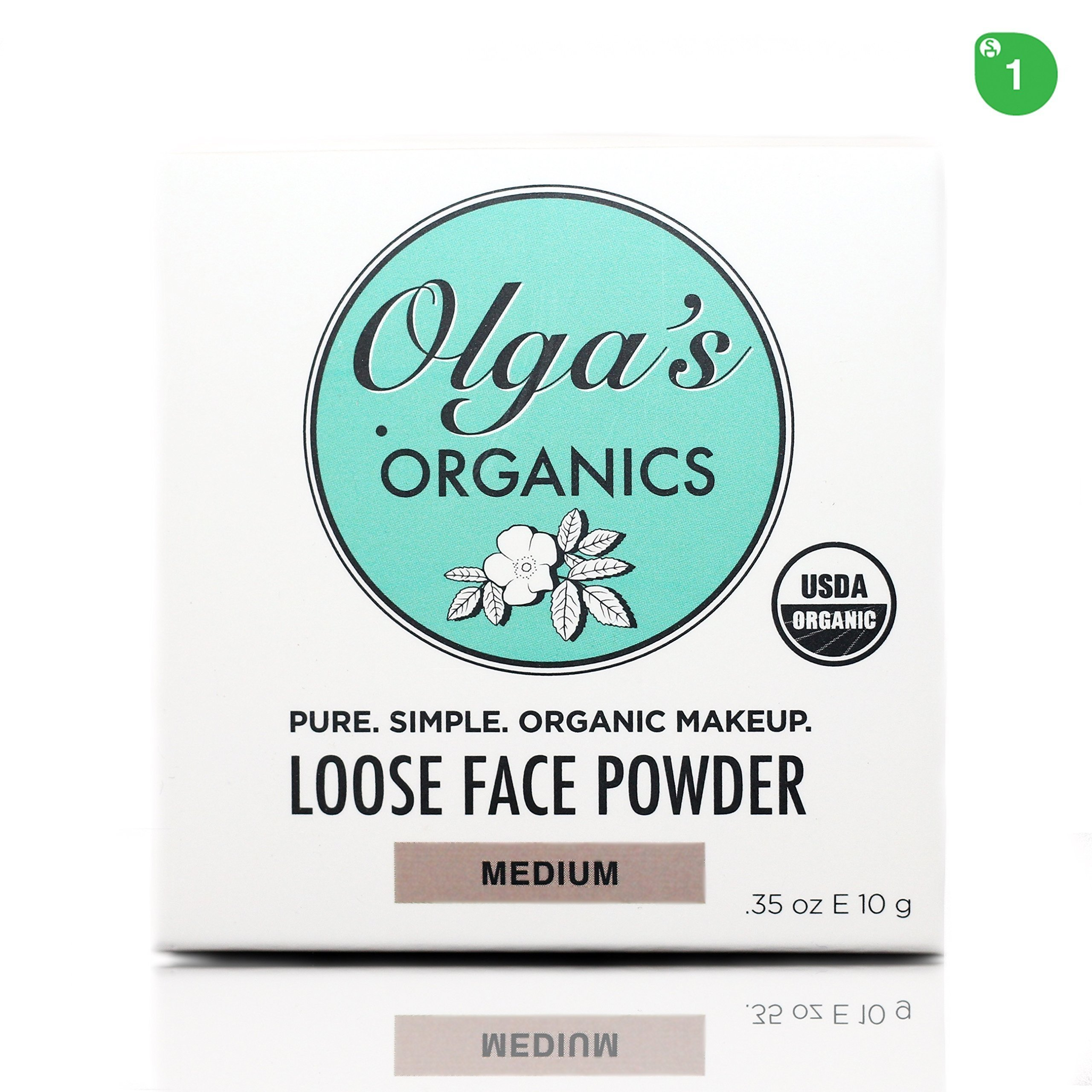 USDA Organic Loose Face Powder - Medium