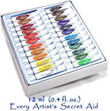 Daveliou Watercolor Paint Set - 24 Non-Toxic Watercolor Paints 12ml - Vivid Colors