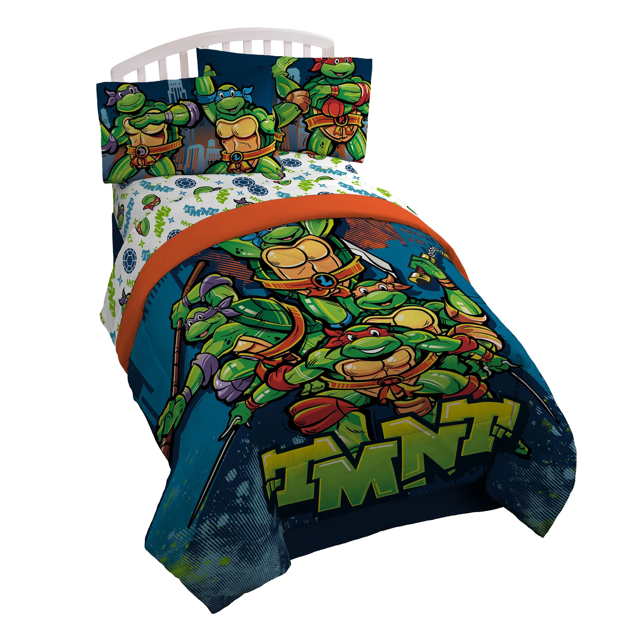 Nickelodeon Teenage Mutant Ninja Turtles Twin/Full Reversible Comforter by Nickelodeon