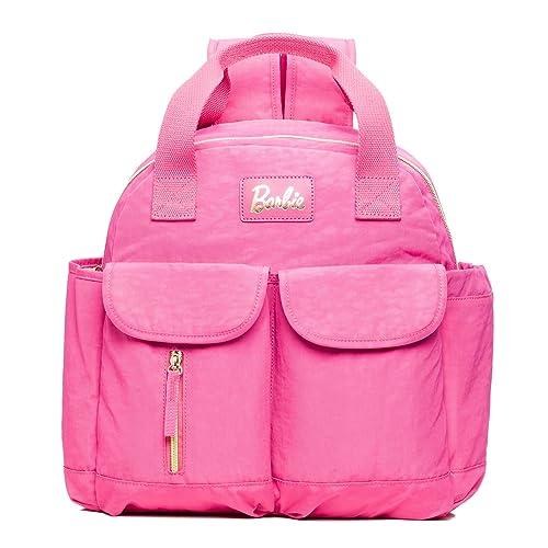 Barbie Mochila práctica de estilo Clásico y Casual Mochila para Mujer BBBP180# 30x35x12CM (Fucsia