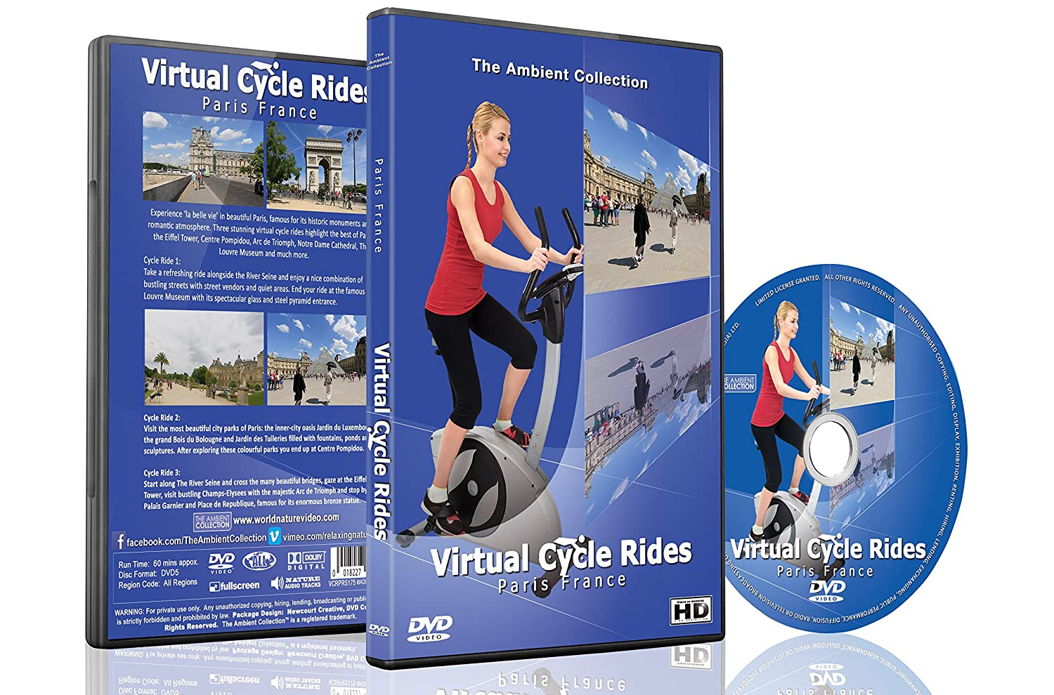 Virtual Cycle Rides - Paris France for Indoor Cycling Treadmill ...