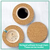 """Cork Drink Coasters 1/8"""" Thick 30 Pack - Home Bar"""
