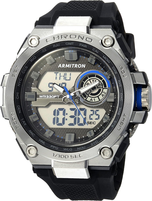 Armitron Reloj para Hombre de Cuarzo japonés con Correa en Silicona 20/5242BBK