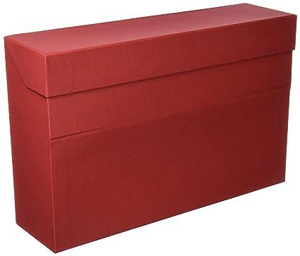 Elba 100580263 - Caja de transferencia de cartón forrado con tela, 10 cm, color