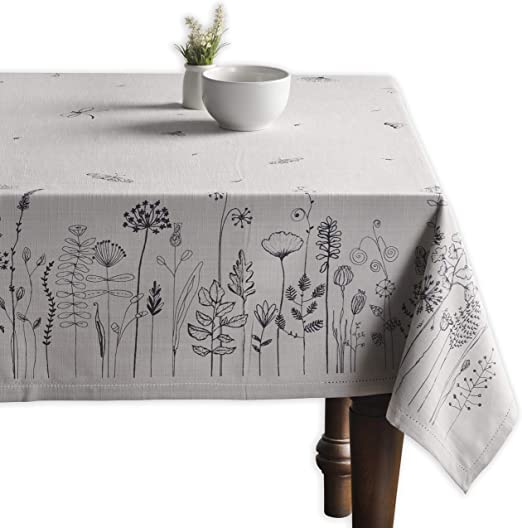 Maison d Hermine Flore 100/% Cotton Tablecloth 60 Inch by 120 Inch Aspero