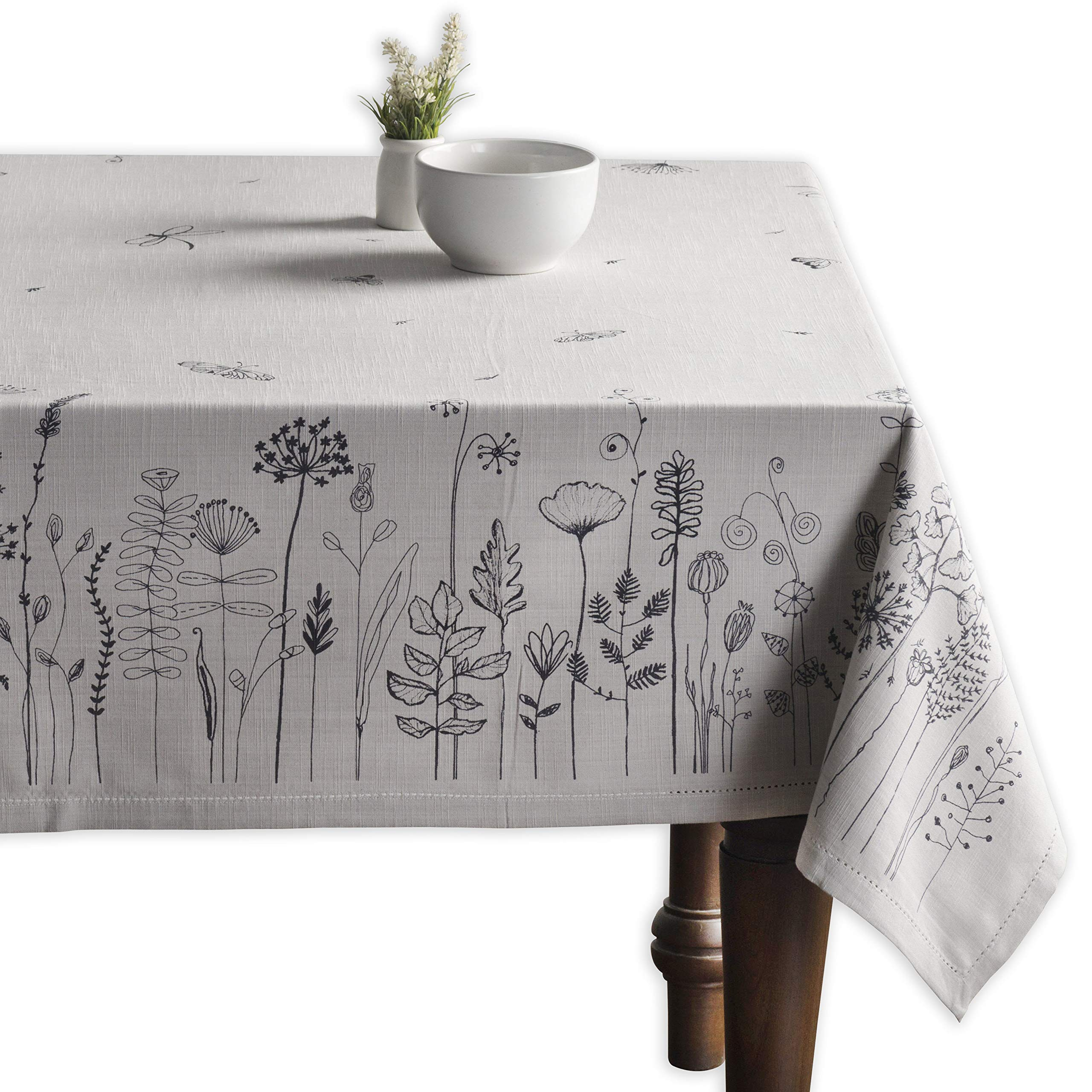 Maison d' Hermine Flore 100% Cotton Tablecloth 60 Inch by 120 Inch