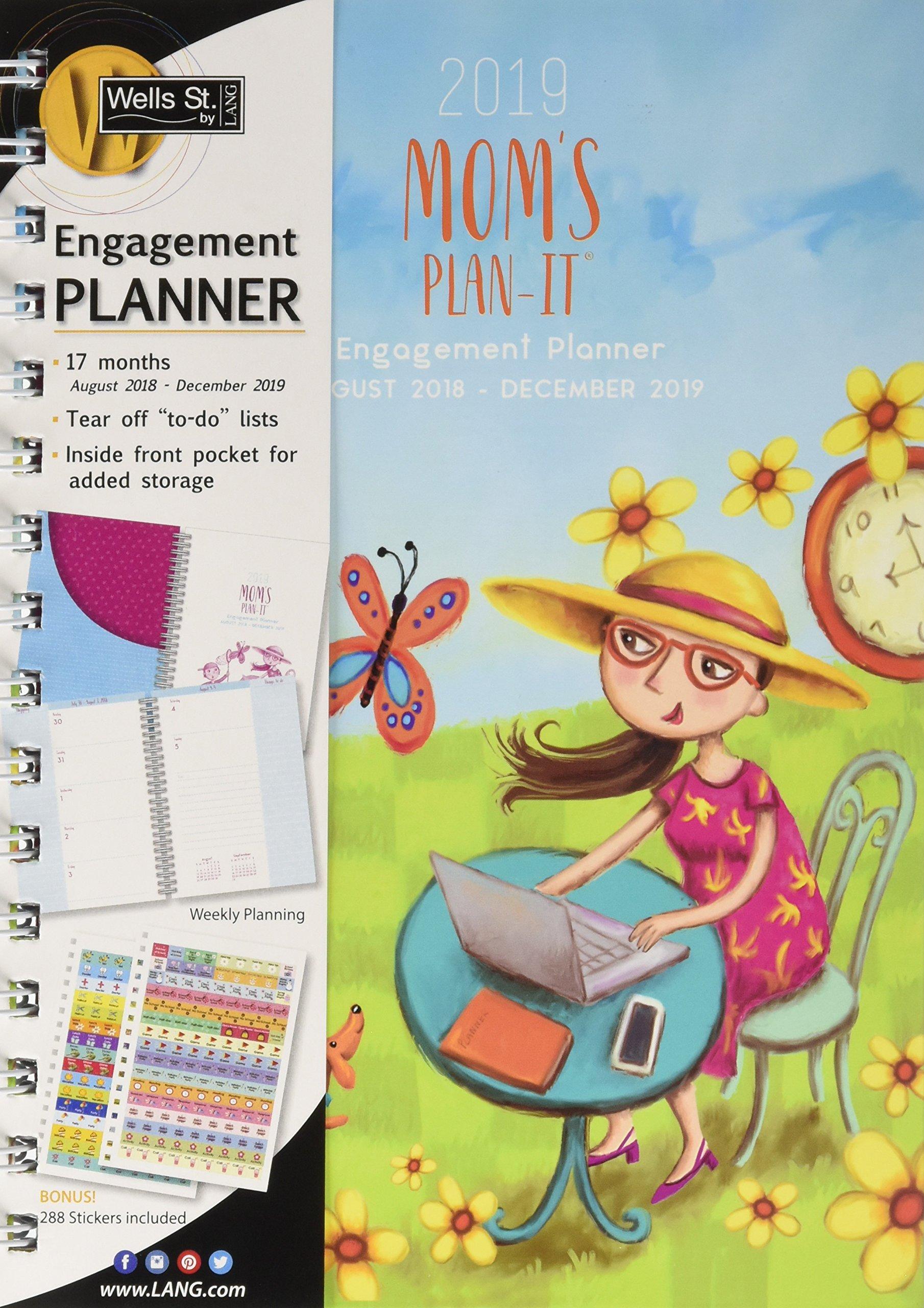 Mom's Plan It 2019 17 Month Planner
