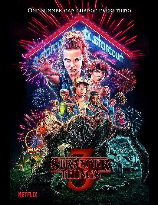 Stranger Things 1 2 3 TV Show Inspirado Placa de Pared Decorativa Lata para Pared hogar Oficina Bar Café Tienda Pub Shed Man Cave Cartel de Metal – ...