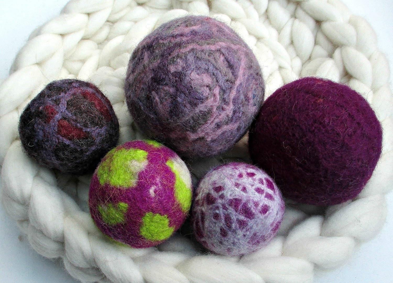 Lots of Uses! Sets of Felted Wool Balls Oddballs