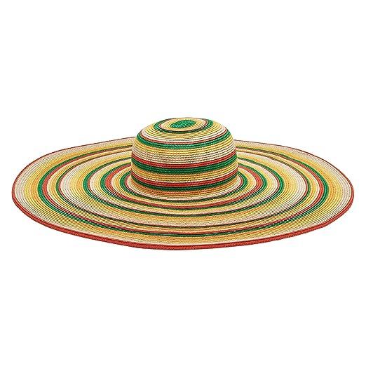 8a22094ee01 San Diego Hat Company Women s 8-Inch Brim Floppy Stripe Sun Hat at ...