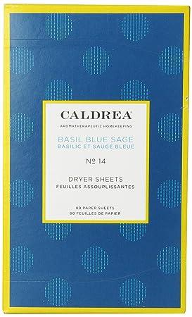 Caldrea - secador Sheets azul albahaca salvia - 80 hojas: Amazon.es: Hogar