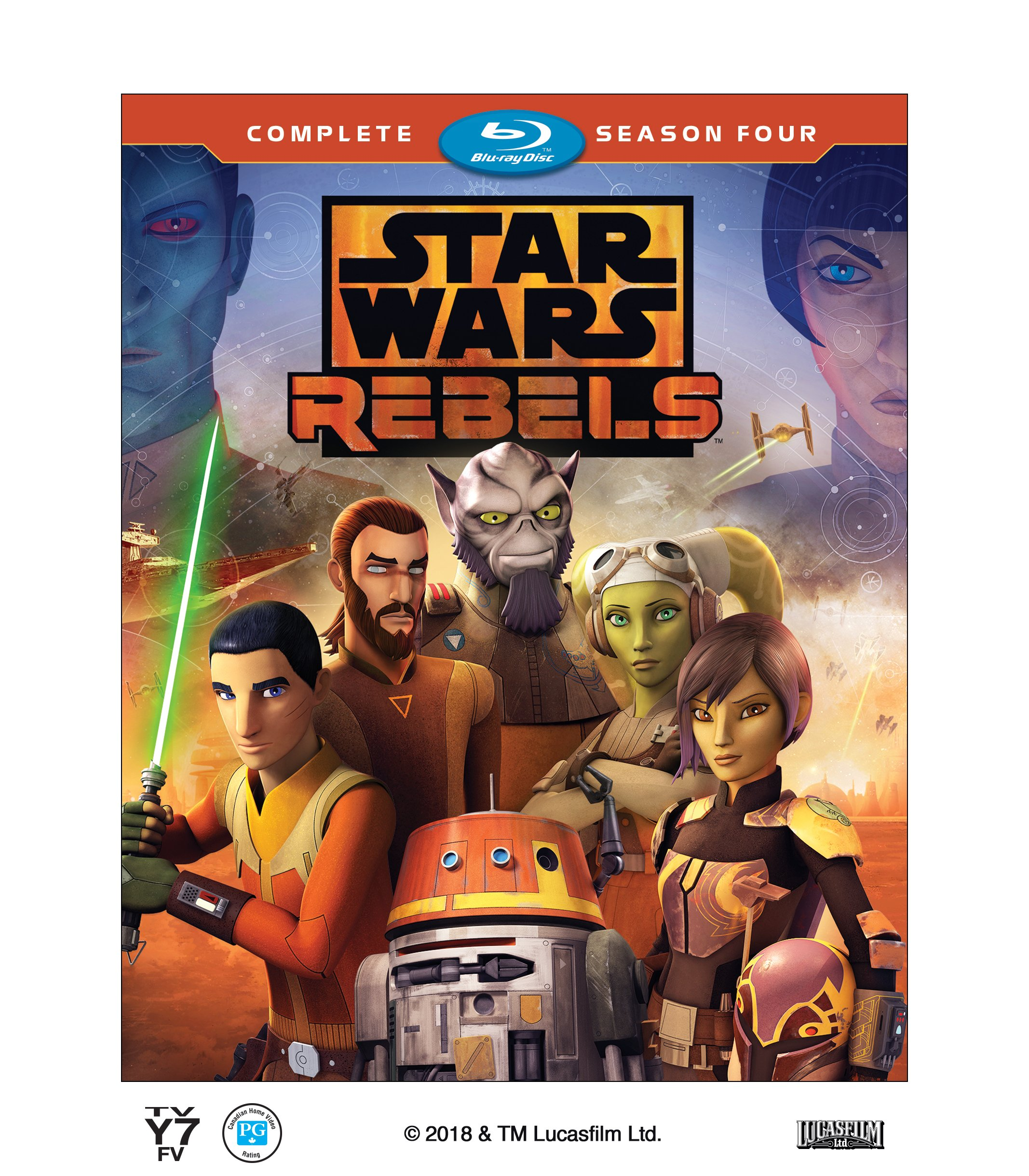 DVD : Star Wars Rebels: Complete Season Four (3 Pack, 3PC)