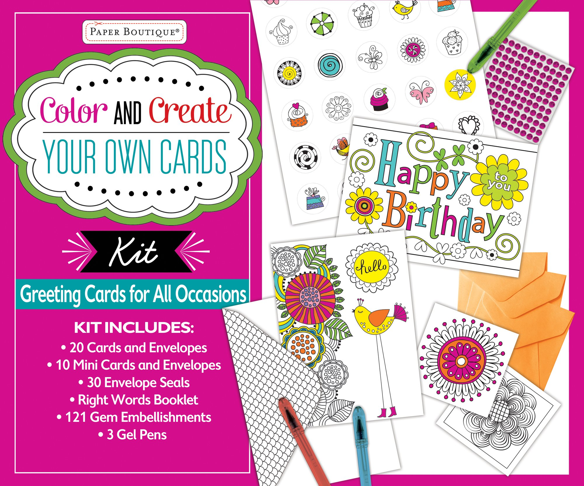 Color and create your own cards boxed kit greeting cards for all color and create your own cards boxed kit greeting cards for all occasions editors of publications international ltd new seasons 9781680222432 m4hsunfo