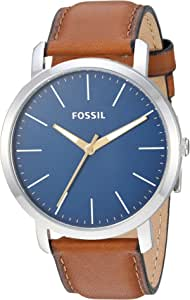 Fossil Men's 'Luther' Stainless Steel Leather Watch