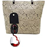 PortoVino City Tote - Fashionable Wine Handbag with Hidden, Insulated Compartment, Holds 2 Bottles of Wine!