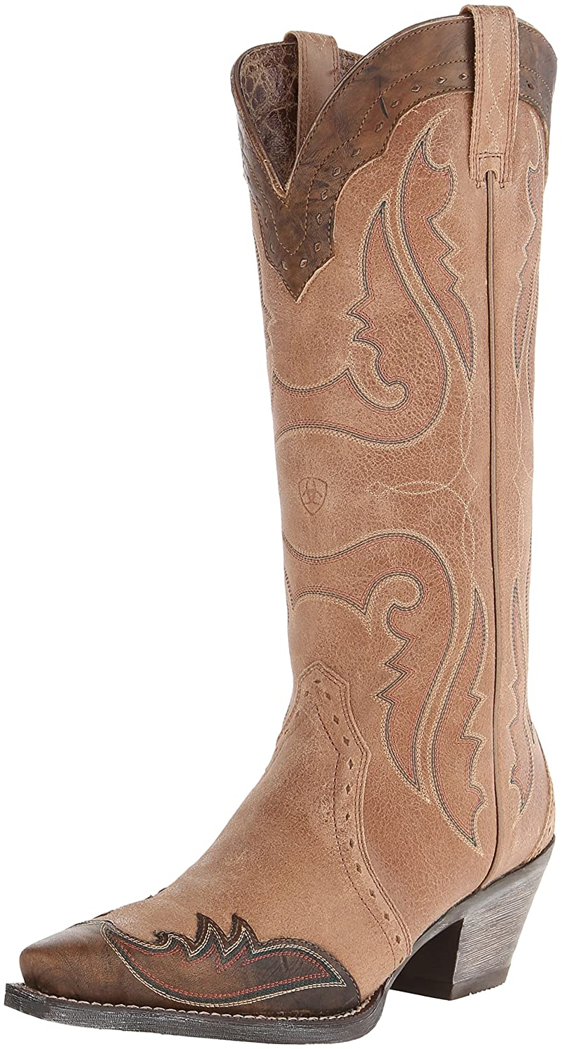846821832a7a3 ARIAT Women's Heritage Western X Toe Wingtip Cowboy Boot