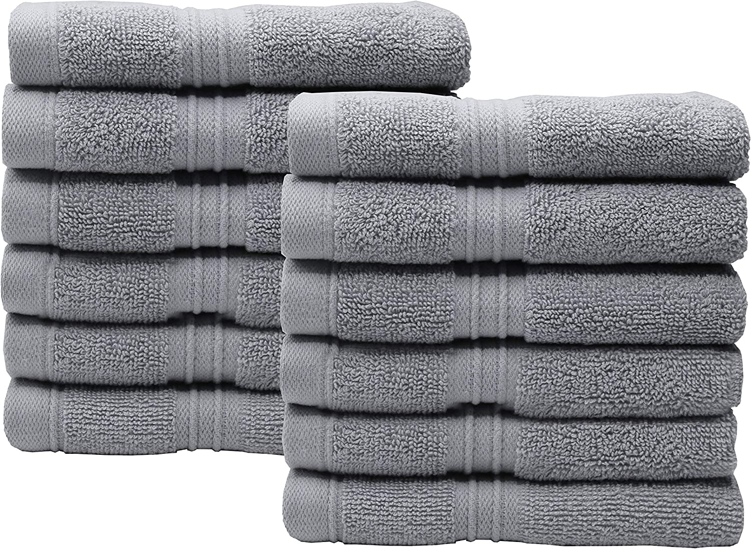 CB CASA BELLA The ultimate linen 700 GSM PACK OF 12 100/% COTTON FACE CLOTH TOWELS FLANNELS WASH CLOTH/_Black