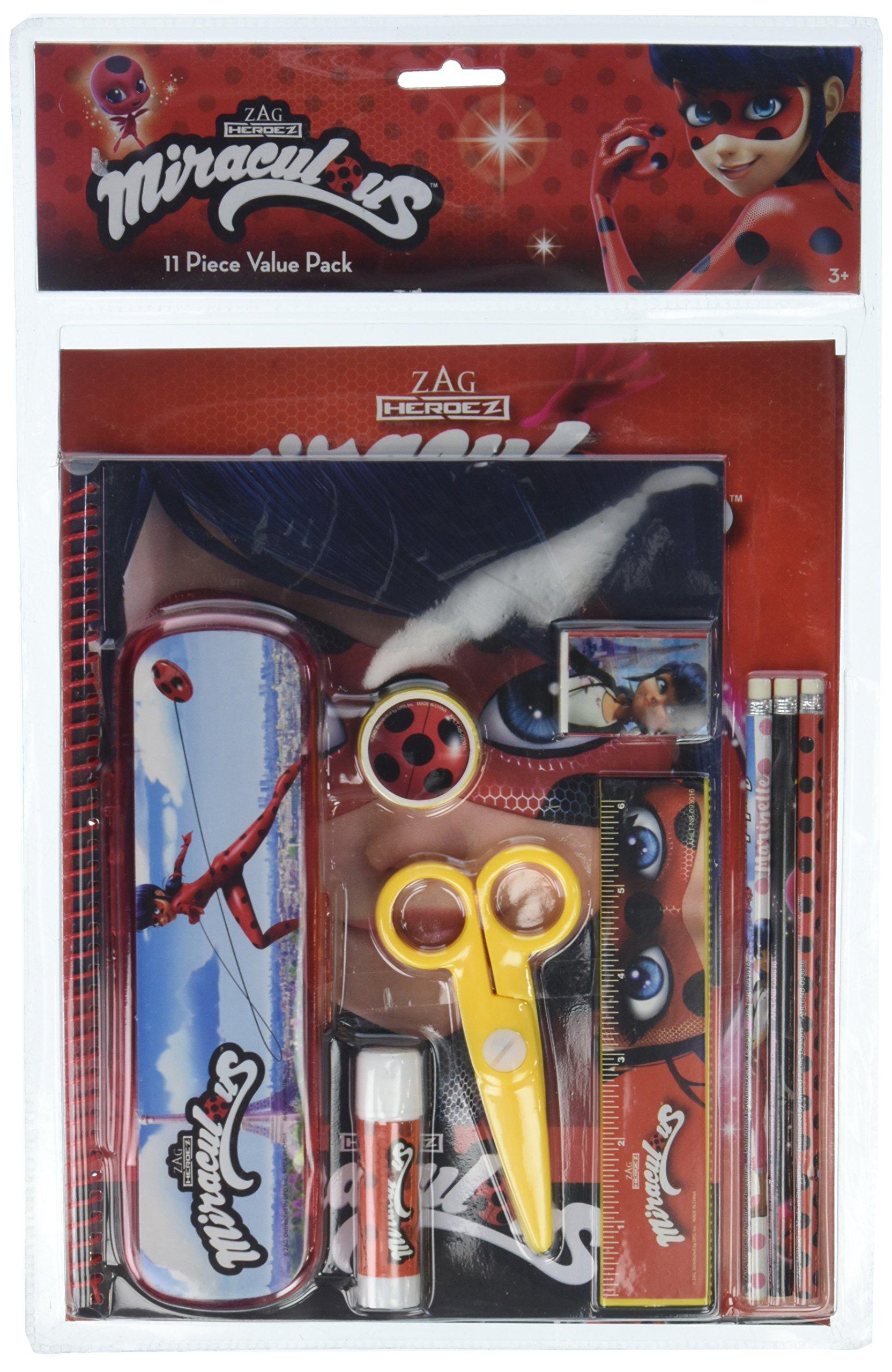 Miraculous Ladybug 11pc School Stationary Value Pack Set