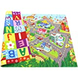 Baby Care Play Mat - Playful Collection (Large, Zoo Town) - Play Mat for Infants – Non-Toxic Baby Rug – Cushioned Baby…