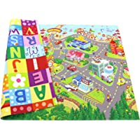 Baby Care Play Mat - Playful Collection (Medium, Zoo Town) - Play Mat for Infants – Non-Toxic Baby Rug – Cushioned Baby…