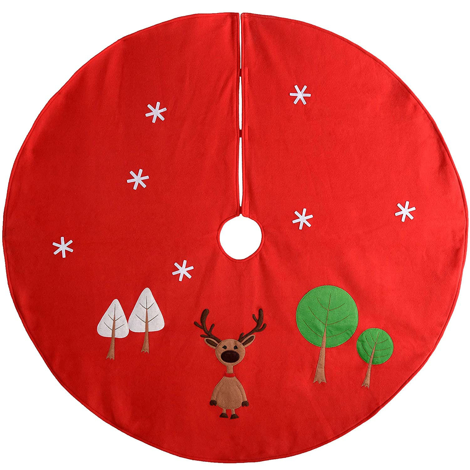 WeRChristmas Christmas Character Tree Skirt Decoration, 120 cm - Large, Multi-Colour WRC-7517