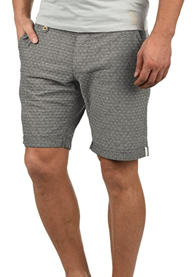02723e9b9fb3db Blend Sergio Herren Chino Shorts Bermuda Kurze Hose Mit Rauten-Muster Aus  100% Baumwolle