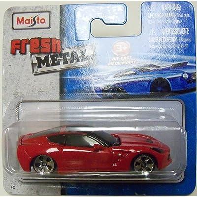 Maisto Fresh Metal Die-Cast Vehicles ~ 2014 Corvette Stingray (Red): Toys & Games