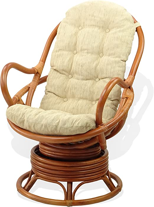 Egg Chair Cognac.Amazon Com Lounge Swivel Rocking Java Chair Natural Handmade