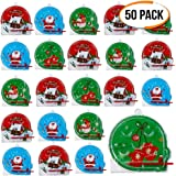 50 Christmas Themed Pin Ball Games - 5 Different Designs Party Favours, Stocking, Party Bag Fillers Juguetes piñata Relleno para piñata Navidad