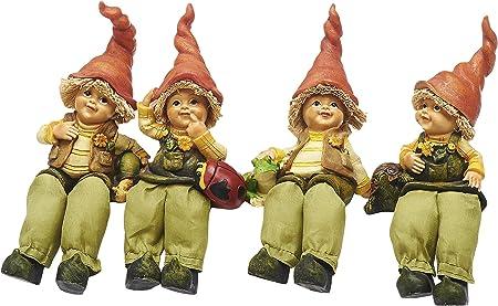 Sunny Toys 12306 - Juego de Figuras Decorativas para Estante (18 cm), diseño de Duendes sentados, 4 Modelos Surtidos: Amazon.es: Hogar