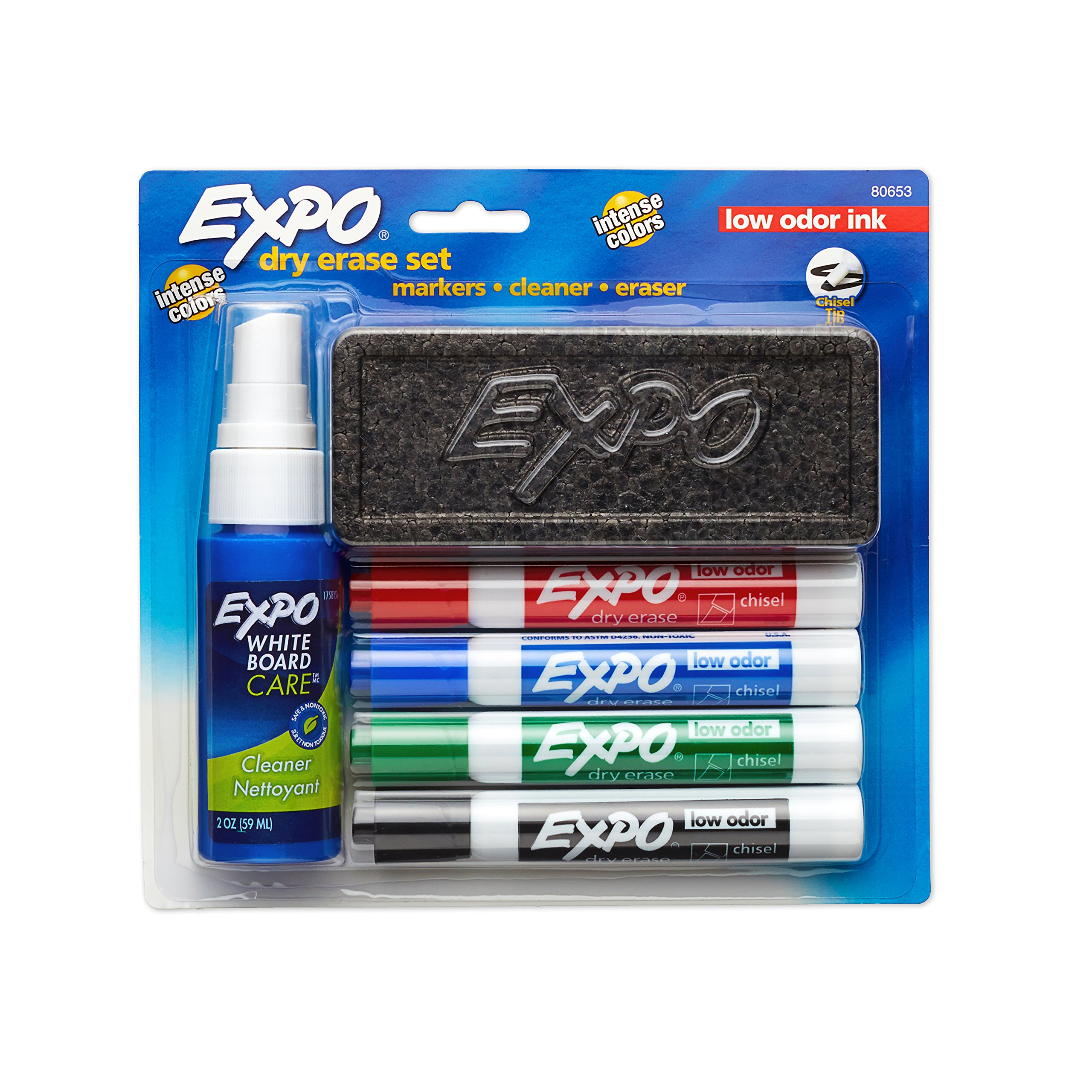 EXPO Dry Erase Marker Starter Set, Chisel Tip, Assorted Colors, 6 Piece by Expo (Image #2)