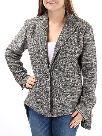f95801acfaf Rachel Rachel Roy Womens Tweed Marled One-Button Blazer Gray 0 at Amazon  Women s Clothing store